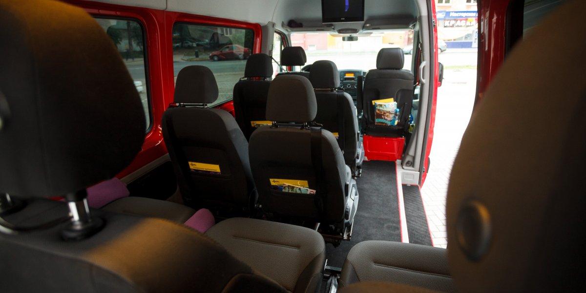 Mercedes Sprinter Красный - аренда Микроавтобус 6-8 мест авто